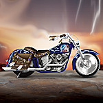 Leader Of The Pack Motorcycle Figurine With Native American Style Accents