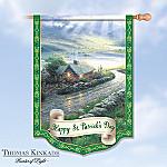 Thomas Kinkade Happy St. Patrick's Day Flag: Irish Wall Decor