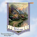 Thomas Kinkade Welcome Decorative Flag