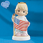 Precious Moments Stand Beside Her And Guide Figurine