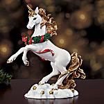 Noel Christmas Collectible Unicorn Figurine