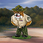 USMC Bulldog Up Close And Personal Collectible Figurine