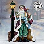 Thomas Kinkade The Light Of St. Nicholas Santa Figurine