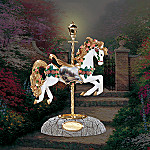 Thomas Kinkade Pine Cove Cottage Carousel Horse Figurine