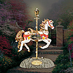 Thomas Kinkade Valley Of Peace Carousel Horse Figurine