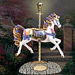 Thomas Kinkade Foxglove Cottage Carousel Horse Figurine