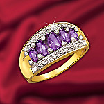 Amethyst And Diamond Timeless Treasures Ring