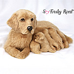 Lifelike Labrador Dog And Puppies Plush Labrador-ables