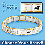 Loyal Companion Italian Charm Bracelet: Jewelry Gift For Dog Lovers