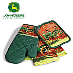 John Deere Kitchen Accessories: Kitchen Towels, Oven Mitt And Square Pot Holder