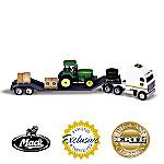 1:64 John Deere 7810 Tractor And Mack Truck Diecast