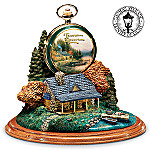 Thomas Kinkade The End Of A Perfect Day Pocket Watch