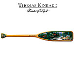 Collectible Thomas Kinkade Canoe Paddle Art: End Of A Perfect Day II