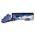1:64 Scale Collectible Wolf Art Semi Truck Diecast: Mystic Spirit Express