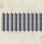 HO Scale 10-Piece Straight Track Train Accessory Set