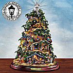 Thomas Kinkade Glory To The Newborn King Illuminated Nativity Tree