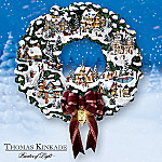 Thomas Kinkade Village Christmas Wreath