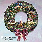Thomas Kinkade Lamplight Village Collectible Christmas Wreath