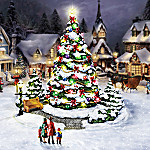 Illuminated Winter Village Accessory Figurine: Christmas Tree, Oh Christmas Tree