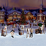 Norman Rockwell Collectible Figurine Village Accessory Set