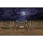 Ghoulish Gate & Frightening Fence Halloween Village Accessory Set