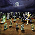 Ghoulish Gravestones Halloween Decoration Village Accessory Set