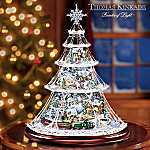 Thomas Kinkade Holiday Reflections Collectible Animated Crystal Holiday Tree
