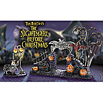 Welcome To Halloween Town Village Gate Accessory Set