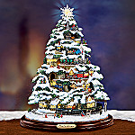 Home For Christmas Classic Illuminated Tabletop Train Tree: Animated Christmas Decor