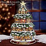 Thomas Kinkade City Sidewalks Animated Tabletop Christmas Tree: Christmas Home Decor