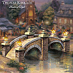 Thomas Kinkade Cobblestone Brook Bridge Illuminated Village Accessory
