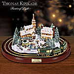 Thomas Kinkade Home For The Holidays Village and Train Set