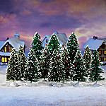 Frosty Winter Splendor Landscape Village Accessory