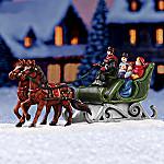Winter Sleigh Village Accessory Set