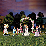 Miniature Village Figurine Accessory: Wedding In Bloom Set