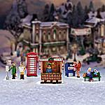 Miniature Christmas Village Figurine Accessory: Village Sidewalks Set
