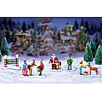 Miniature Christmas Village Figurine Accessory: North Pole Petting Zoo Set