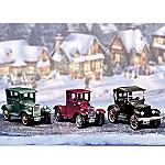 Roarin' Roadsters Vintage Cars Village Accessory Figurine Set