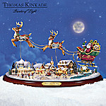 Thomas Kinkade Santa's On His Way Figurine