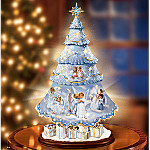 Sandra Kuck Heavenly Holiday Illuminated Rotating Tabletop Christmas Tree