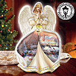 Thomas Kinkade Winter's Blessing Angel Figurine