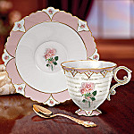 My Daughter, My Friend Collectible Pink Rose Teacup And Saucer: Gift For Daughters