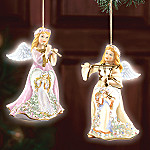 Angelic Symphony Porcelain Angel Christmas Tree Ornaments Set One