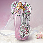 Angel Of Love Stained Glass Art Collectible Angel Figurine