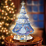 Disney Cinderella's Christmas Wish Illuminated Rotating Tabletop Christmas Tree