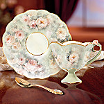 Lena Liu Blushing Beauty Floral Art Teacup And Saucer