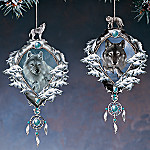 Mystic Spirit Wolf Ornaments
