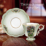 Thomas Kinkade Garden Of Inspiration Porcelain Teacup And Saucer: Set One