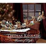 Thomas Kinkade The Light of Christmas Illuminated Figurine