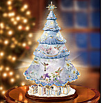 Lena Liu Holiday Splendor Illuminated Rotating Tabletop Christmas Tree